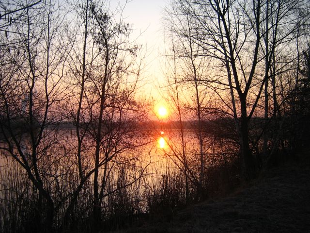 Detail fotografie - Západ slunce, Pardubický kraj